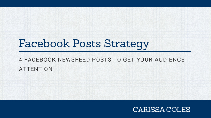 facebook post newsfeed strategy