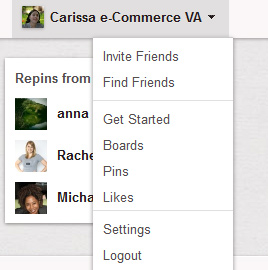 Pinterest account login settings