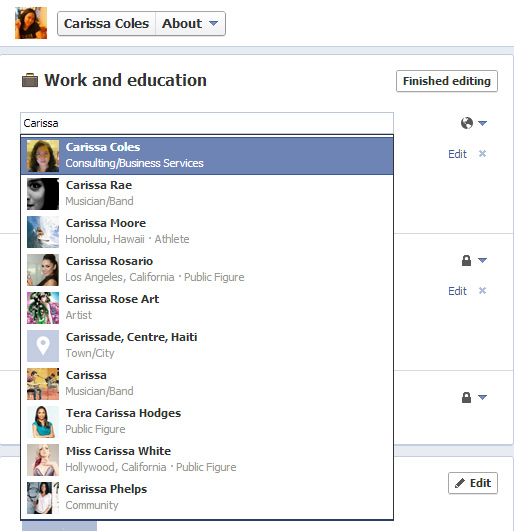 How to Link your Employer's Info of Facebook Page to your