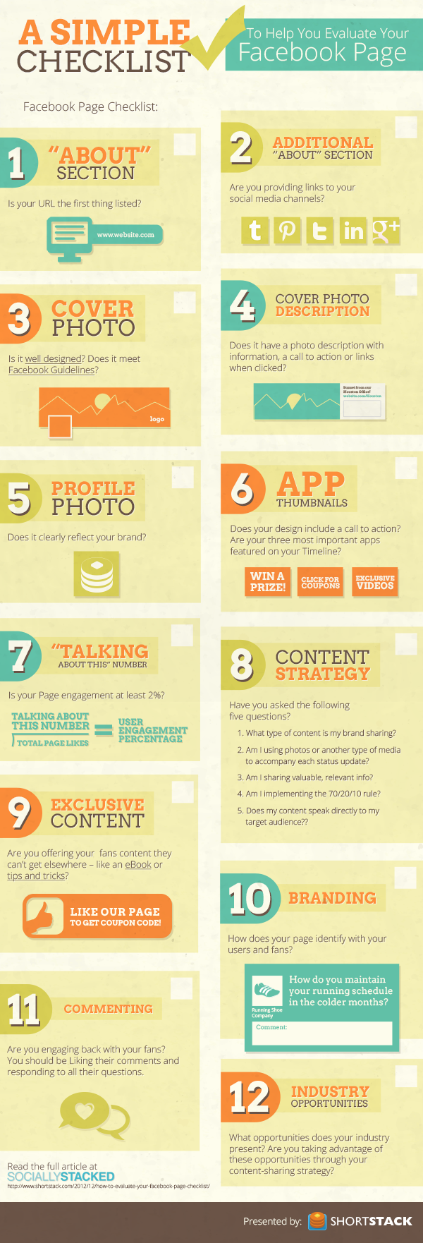 facebook simple checklist infographic