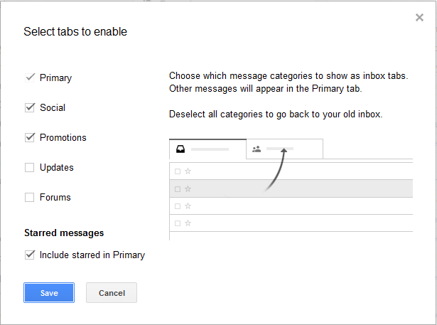 How to Remove Gmail Category Tabs