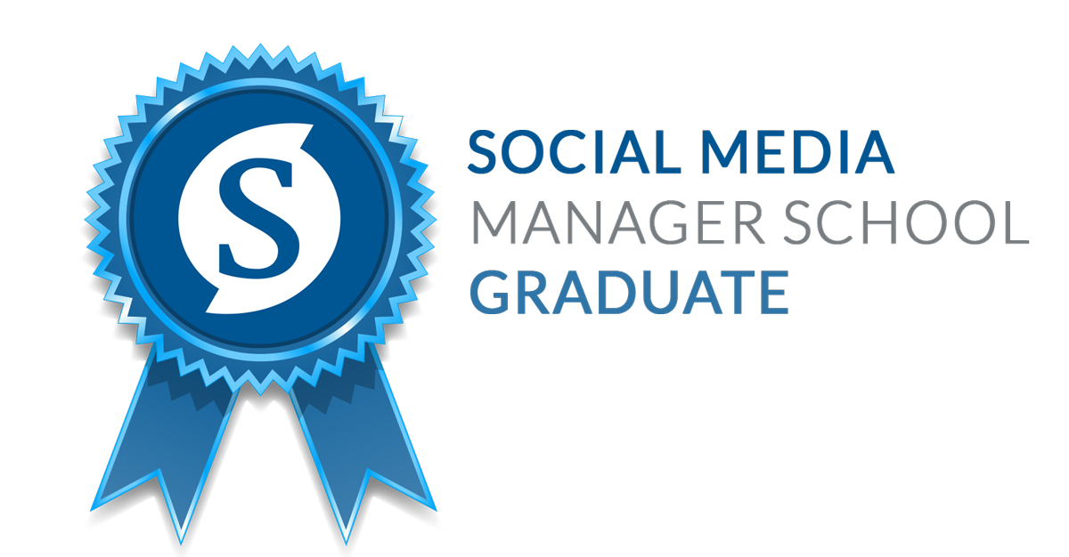 social media manager school badge