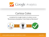 Google Analytics: Data to Decisions